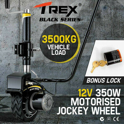 T-REX 12V 350W Motorised Jockey Wheel Electric Power Mover Caravan Trailer Boat