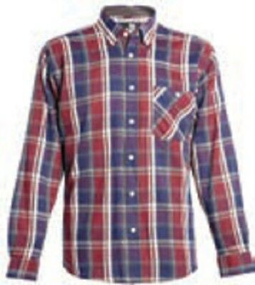 Ropa laboral. Camisa de franela.Color Medoc. Talla-4XL NORTHWAYS