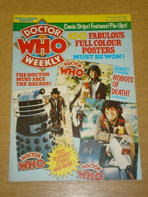 Doctor Who #24 1980 Mar 26 British Weekly Monthly Magazine Dr Who Dalek Cybermen