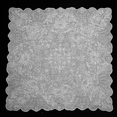 VINTAGE ENBROIDERED APPENZELL HANDKERCHIEF, Collectors, lace, embroidery