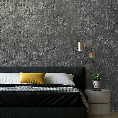 Wallpaper Textured Damask Gray Silver Metallic Victorian