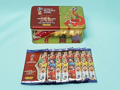 Panini Adrenalyn World Cup Russia 2018 Tin Box leer + 8 Booster  WM