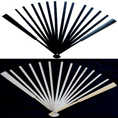 Fan Stave - Bamboo Frame - 27cm Long 16 Staves - Choose from Natural or Black