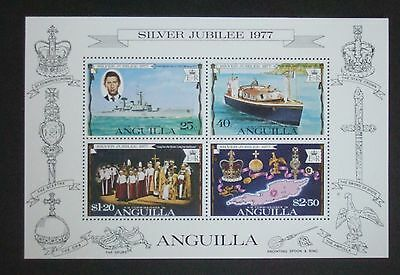 Anguilla 1977 Silver Jubilee MS Miniature Sheet MNH UM unmounted mint