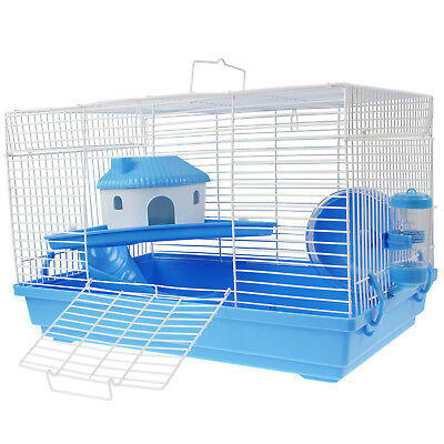 Portable Blue Mouse Rat Gerbil Guinea Pig Hamster Indoor Small Pet Animals Cage