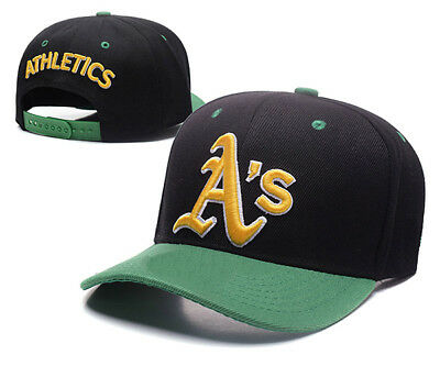 Oakland Athletics Baseball MLB Unisex Hat Cap Black & Green Peak AU Stock