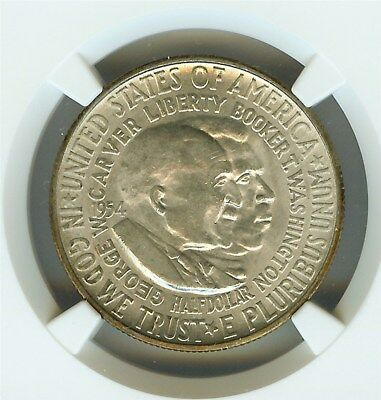1954-S Washington-Carver Silver 50 Cents Ngc Ms65