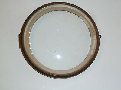 Hinged glazed bezel from 1930's mantel clock to fit aperture 6""