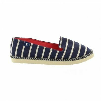 Bnwt Girls Boys Joules Summer Beach Pump Holiday Shoe Navy White Uk 12 13 Junior