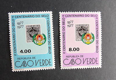 Cape Verde 1977 Centenary of first stamps SG452/3 MNH UM unmounted mint x