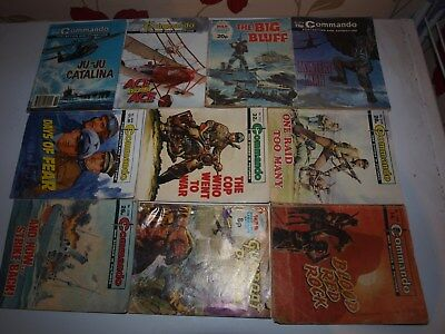 10 Old Commando and battle picture library War books Retro Collectable 3