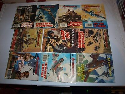 10 Old Commando and battle picture library War books Retro Collectable 12