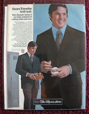 1972 Print Ad Sears The Men's Store Suit ~ Tom Seaver New York Mets Baseball
