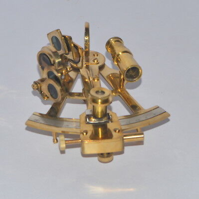 Nautical Brass 5 Inch Sextant Antique Style Astrolabe Ships Instrument