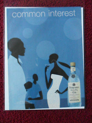 2001 Print Ad Seagram's Gin ~ COMMON INTEREST BLACK Afro-American Art Series