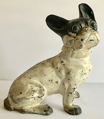 Antique French Bulldog Cast Iron Doorstop