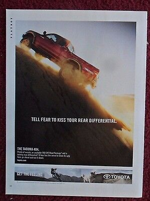 2004 Print Ad Toyota Tacoma 4x4 Truck ~ Tell Fear to Kiss Your Rear Differenial