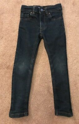 Boys Next Skinny Jeans Blue Age 4 Adjustable Waist VGC !