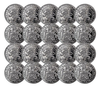 Lot of 20 - 2017 Netherlands Silver New York Lion Dollar Restrike SKU52380