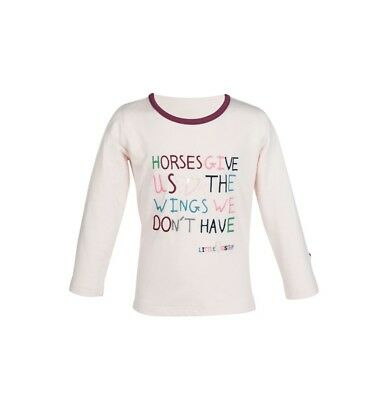 Kinder Langarmshirt Bonnie Wings Little Sister elfenbein 98/104