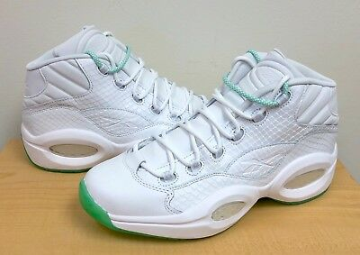 pretty nice a633a 2ce3e MENS REEBOK QUESTION MID White Mint Glow CM9417 Allen Iverson BASKETBALL