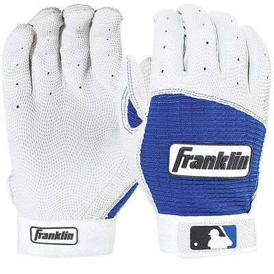Franklin Adult Pro Classic MLB Batting Gloves - Pearl/Royal
