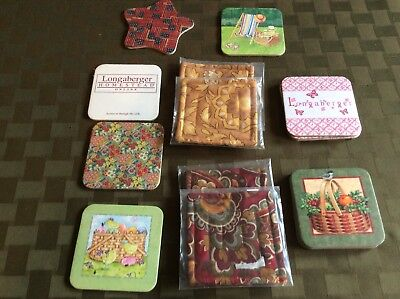 Longaberger  Collection Of Sixteen Coasters~All New