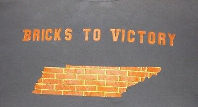 Tshirt Tennessee Bricks orange Hanes adult XXL state UT TN Vols volunteer shirt