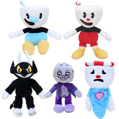 22cm-28cm Cuphead & Mugman Plush Toy Mecup And Brocup Stuffed Doll