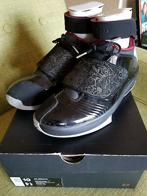 newest ab152 69b0f Nike Air Jordan XX Black Stealth Varsity Red 310455-002 Size 10