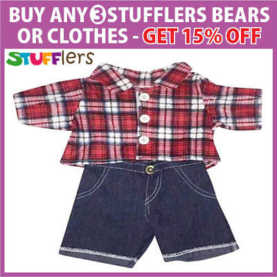 Westie Clothing Outfit by Stufflers flannelette – Fits Medium Sized 40cm Toy