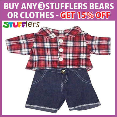 Westie Clothing Outfit by Stufflers flannelette – Will fit on a Build a bear