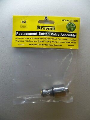 New Krowne 21-302L Replacement Button Valve Assembly Low Lead Free 1St Cls S&h