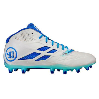 NEW Warrior Burn 8.0 Blue/White Lacrosse Cleats BURN8MDB Men's Shoes Size 12 D