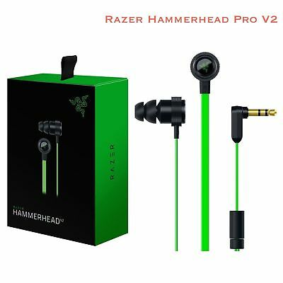2018 Razer Hammerhead Pro V2 In-Ear PC Music Game Headset Headphone Earphone Mic