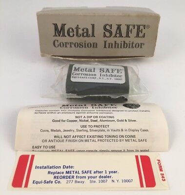 Metal SAFE Coin Conservation Corrosion Inhibitor Prevent Toning Holders Protect