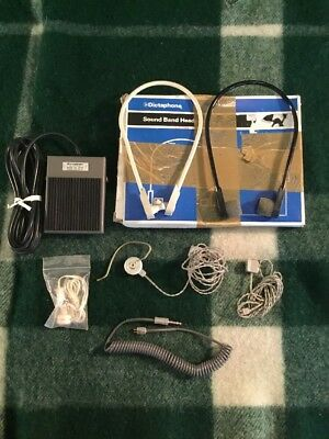 Dictaphone Accessories Sound Band Headset And Model 119333 FC-44 Foot Pedal