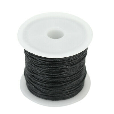 One Roll Waxed Cotton Cord Wire Beading Macrame String Jewelry DIY 1mm Black