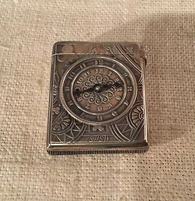 Gorham Antique Sterling Silver 19th Century Gambling Queen Spinner Match Safe