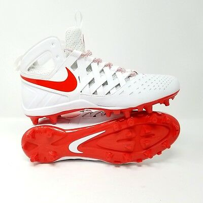 b7fd87d04 Nike Men s Huarache V Lax Football Lacrosse Cleats 807142 161 Size 12 White  Red
