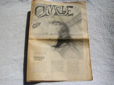 San Francisco Oracle 4th issue newspaper 1966 Timothy Leary LSD Haight Ashbury