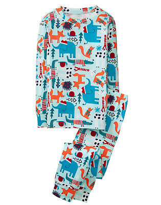 NWT Gymboree Winter Animals Christmas Holiday Gymmies Pajamas 2PC PJs Boys