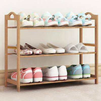 3 4 5 Tiers Bamboo Shoe Rack Storage Organizer Wooden Shelf Stand Shelve