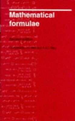 Mathematical Formulae by May, A. J. C. Paperback Book The Cheap Fast Free Post
