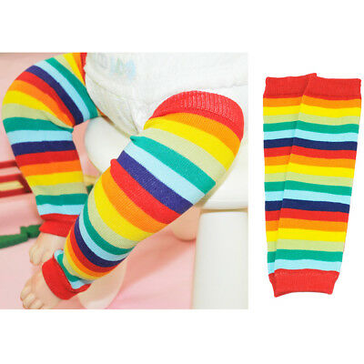 Baby Toddler Child Colorful Rainbow Color Stripe Socks Tights Arm Leg Warmers