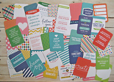 "'aqua' Project Life Cards By Becky Higgins - 3"" X 4"" - 50 Cards"