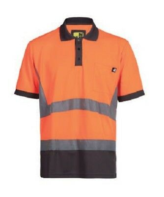 Ropa laboral .Polo tejido transpirable.NARANJA.Talla-2XL NORTHWAYS 1226 Apollo