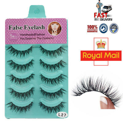 5/10 Pairs Natural Thick Demi Wispies False Eyelashes Fake Eye Lashes Wispy - S1