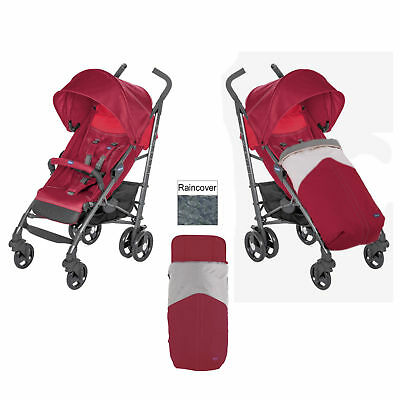 Child Stroller Red Berry Kids Pram Pushchair Chicco LiteWay 3 Baby
