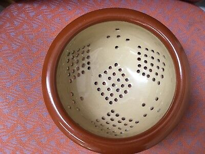 Rare early 20th century Denby colours stoneware colander.